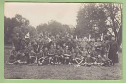 CHAMARANDE : Patrouilles Et Fanions. Scouts De France, Années 20. CARTE PHOTO. 2 Scans - Scoutisme