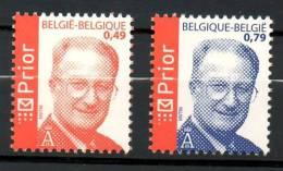 COB 3208 - 3209 Albert II Nouveau Logo PRIOR Neufs SANS Charnière Moins Cher Que Prix Poste - Belgien
