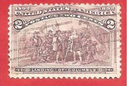 U.S.A. - STATI UNITI - USED - 1893 - Columbian Issue - 2 ¢ - Michel US 74 - Oblitérés