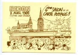 """BELOM  """"4ème  Salon De La Carte Postale  De REDON Avril 1989"""" - Autres Illustrateurs"""