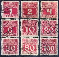 AUSTRIA 1908 Postage Due Chalky Paper Set Fine Used.  Michel Porto 34-44x - Postage Due