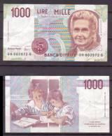 Italien , 1000 Lire , 1990 , P-114 C , VF - [ 2] 1946-… Republik