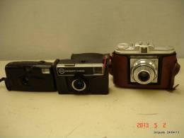 LOT DE 3 APPAREILS PHOTO VENDU EN L'ETAT 1 KODAK  1 INSTAMATIC  ET 1 AGFA - Appareils Photo