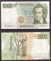 Italien , 5000 Lire , 1985 , P-111 B , VF - [ 2] 1946-… Republik