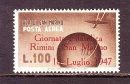 SAN MARINO SAINT MARIN 1947 GTA FILATELICA RIMINI P:AEREA  MNH** - Posta Aerea