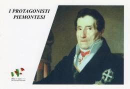 [DC1452] CARTOLINEA - 150° ANN O UNITA´ D´ITALIA - PROTGONISTI PIEMONTESI - GIUSEPPE BARBAROUX (28) - Storia