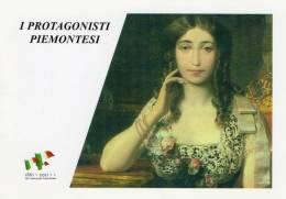 [DC1460] CARTOLINEA - 150° ANNO UNITA´ D´ITALIA - PROTGONISTI PIEMONTESI - OLIMPIA SAVIO (36) - Storia