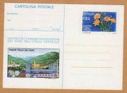 Carte Entier Postal Fleur - Postwaardestukken