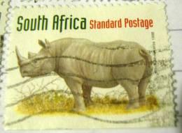 South Africa 1998 Black Rhinoceros Standard - Used - Used Stamps