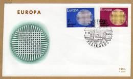 Enveloppe FDC 259f  Europa 1530 1531 - 1961-70