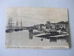 T269) PORTUGAL FIGUEIRA DA FOZ BOCA E CAES DA ALFANDEGA 1908 ED. TABACARIA MALAFAIA - Coimbra