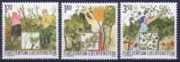 Liechtenstein N° 1257 à 1259 Neufs ** - Vin - Travail De La Vigne - Liechtenstein