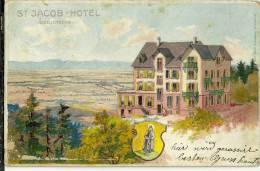 67 CPA  Mont Sainte Odile Hotel Jacob Litho 1903 Etat Moyen  Illustrateur Garnier Tanconville - Sainte Odile