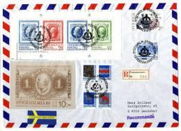 Sverige - Zweden - Schweden - Sweden 1983, Registered Cover To Germany, Oscar II - Postmuseum - Stockholmia 86 - Briefe U. Dokumente