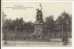 QUIMPER , Monument élevé à La Mémoire De La Tour D´ Auvergne Et Des Morts Pour La Patrie , 1916 , CPA ANIMEE - Quimper