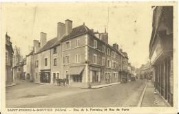 Nièvre :  SAINT  PIERRE  Le  MOUTIER  : Rue De La  Fontaine  Et Rue De  Paris - France