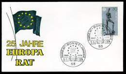 27662) BRD - SoST 53 BONN 1 Vom 5.5.1974 - Brief - 25 Jahre Europarat - BRD