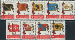 AS1928 Knights Of Malta 1967 Among Group Banner 9v MNH - Timbres