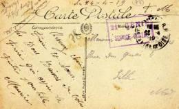 Souvenir De Versailles- Affranchissement Militaire : 21e Génie, Service Postal  - Comp. P/27 - S. Et O. - Gruss Aus.../ Grüsse Aus...