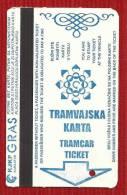 BOSNIA AND HERZEGOVINA .SARAJEVO  TICKET--TRAM-TRAMCAR - Tram