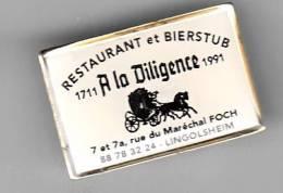 "Pins - 67 - Lingolsheim - Restaurant Bierstub  ""La Diligence"" - Villes"