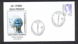 6.- 009 ITALY ITALIA 2013. SPECIAL POSTMARK.  ESTRUSCAN CIVILZATION . MUSEUM OF GUARNACCI. CECINA - History