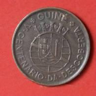 GUINÉ-BISSAU  1  ESCUDOS  1946   KM# 5  -    (2260) - Guinea-Bissau