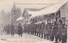 CPA 88 @ GERARDMER @ Le Président Poincarré Le 10 Février 1915 Revue De La Cie D' Alpins Skieurs @ Caché Croix Rouge - Gerardmer