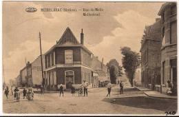 MEIRELBEKE Merelbeke Mellestraat 1915 TREINSTEMPEL BRUSSEL>GENT> OOSTENDE Feldpost  1040/d2 - Merelbeke