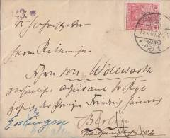 DR Brief EF Minr.56 Königsberg 14.7.01  Verschlußmarke Irrläufer Ansehen !!!!!!!!!! - Deutschland