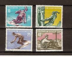 Liechtenstein 1955 Yvertn° 296-299 (°) Used Cote 32,50 Euro Sport - Oblitérés