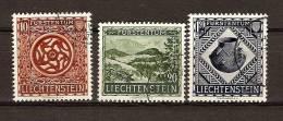 Liechtenstein 1954 Yvertn° 281-283 (°) Used Cote 75 Euro - Oblitérés