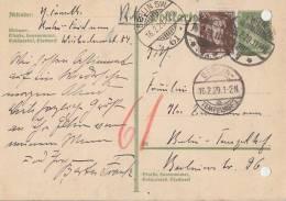 DR GS Rohrpost Zfr. Minr.396 Berlin SW 16.2.29 - Deutschland
