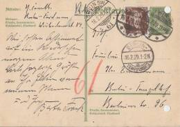 DR GS Rohrpost Zfr. Minr.396 Berlin SW 16.2.29 - Briefe U. Dokumente