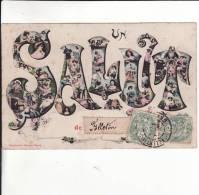 CPA  De  FELLETIN  (23)  -  Un  SALUT  De  Felletin  //  BE (petites Taches De Rouille Par Endroits) - Felletin