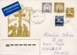 Lithuania Multifranking Cover And 4 More Covers For Dublinstamps - Lituania