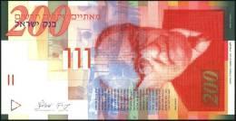 ISRAEL - 1999 - NIS 200 - Zalman Shazar - Signed Jacob Frenkel & Shlomo Lorincz - UNC - Israel