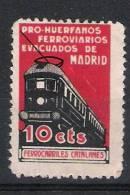 01760 Sofima Madrid 39 *  RARO TOPICAL Trenes / Train / Eisenbahn - Viñetas De La Guerra Civil