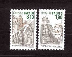 FRANCE 1986 UNESCO Michel Cat N° 37/38 Mint Never Hinged - UNESCO