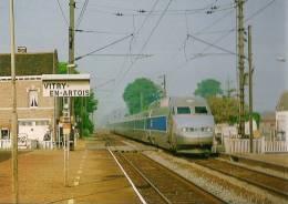 VITRY-EN-ARTOIS (59) TGV Passage En Gare - Editeur Serge Baliziaux - Détails Sur Le 2ème Scan - Trains