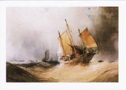Maritime Art Postcard A Fishing Smack & Shipping Open Seas William Callow Boat - Fishing Boats