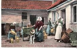Attelage Original-Charrette à Chien-1907- La Belgique Laitière-Préparatifs De Départ-Baptème Du Lait - Landbouwers