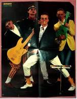 Musik Poster  - Hubert Kah -  Rückseitig Martin Shaw / Lewis Collins  -  Ca. 40 X 52 Cm  -  Von Bravo  Ca. 1982 - Plakate & Poster
