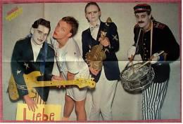 Musik Poster  - Hubert Kah & Kapelle  -  Rückseitig Maxwell Caulfield / Michelle Pfeiffer  -  Von Popcorn  Ca. 1982 - Plakate & Poster
