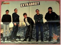 Musik Poster  - Gruppe Extrabreit  -  Ca. 56 X 41 Cm  -  Von Pop-Rocky  Ca. 1982 - Plakate & Poster