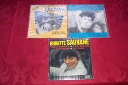 BRIGITTE SAUVANE  °  COLLECTION DE 3 / 45 TOURS - Collections Complètes