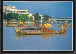 THAILAND POSTCARD - Royal Boat In River - Tailandia
