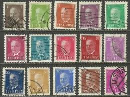 ESTLAND Estonia Estonie 1936-1939 Präsident Konstantin Päts 11 Different Nominals O - Estonia