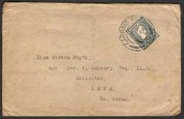 EIRE IRELAND - Postal History Cover 1947 With Map Stamp - 1937-1949 Éire