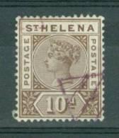 St Helena: 1890/97:   QV    SG52    10d     Used [diamond Shaped Cancellation] - Saint Helena Island